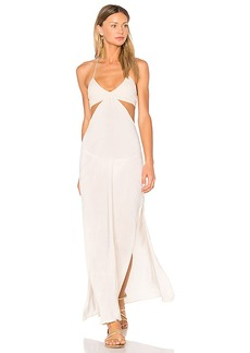Indah Blaze Cutaway Maxi Dress in Beige. - size L (also in M,S,XS)