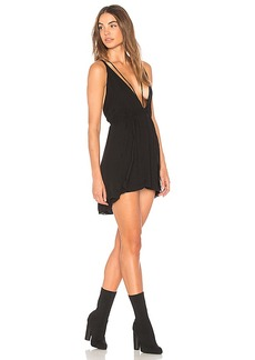 Indah Cotton Club Triangle Mini Dress in Black. - size L (also in M,S,XS)