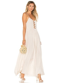 Indah Imagine Maxi Dress in Beige. - size S (also in L,M,XS)