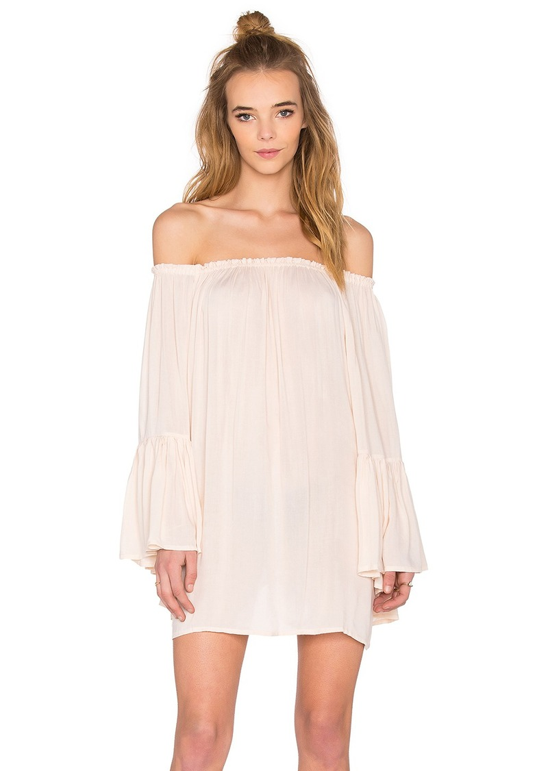 Indah Kamani Off the Shoulder Mini Dress