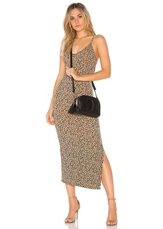 Indah Licorice Printed Dress in Brown. - size 0 / XS (also in 1 / S,2 / M)