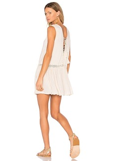 Indah Moonbeam Mini Dress in Beige. - size M (also in S,XS)