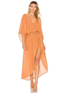 Indah Quill Kimono Maxi Dress
