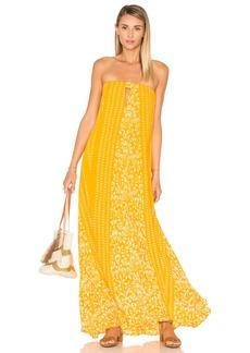 Indah Sail Printed Strapless Maxi Dress
