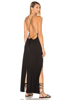 Indah Spark Maxi Dress in Black. - size L (also in M,S,XS)