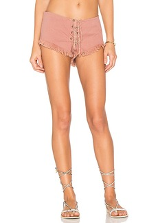 Indah Vibe Lace Up Short. - size L (also in S,M)