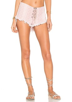Indah Vibe Lace Up Short. - size L (also in S,XS,M)