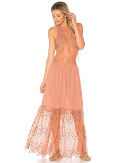 Indah Whisky Maxi Dress in Rose. - size M (also in XS,S)