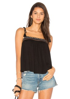 Indah Raven Embroidered Cami