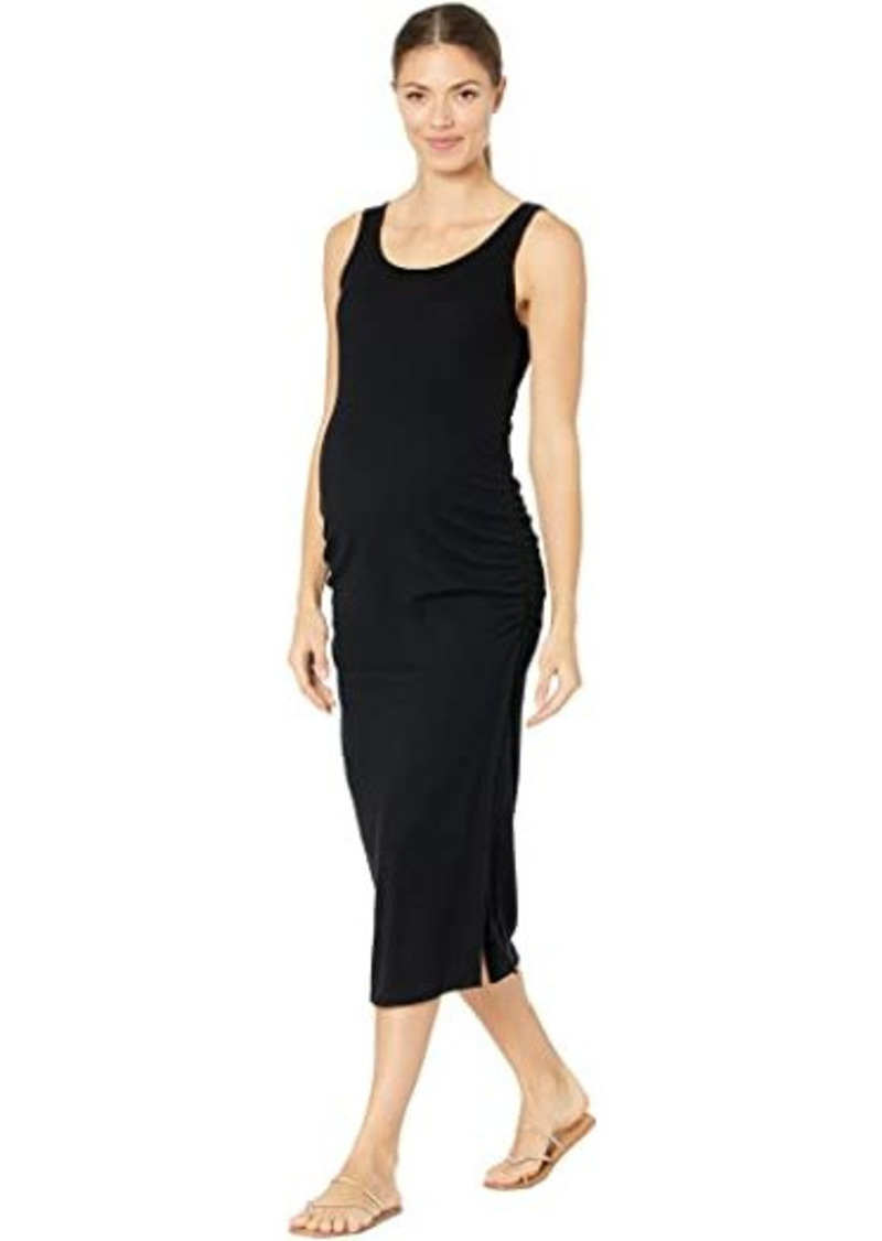 Maternity Ribbed Tank Maternity Midi Dress