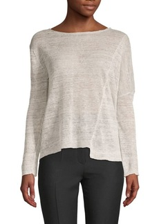 Inhabit Draped Linen Top
