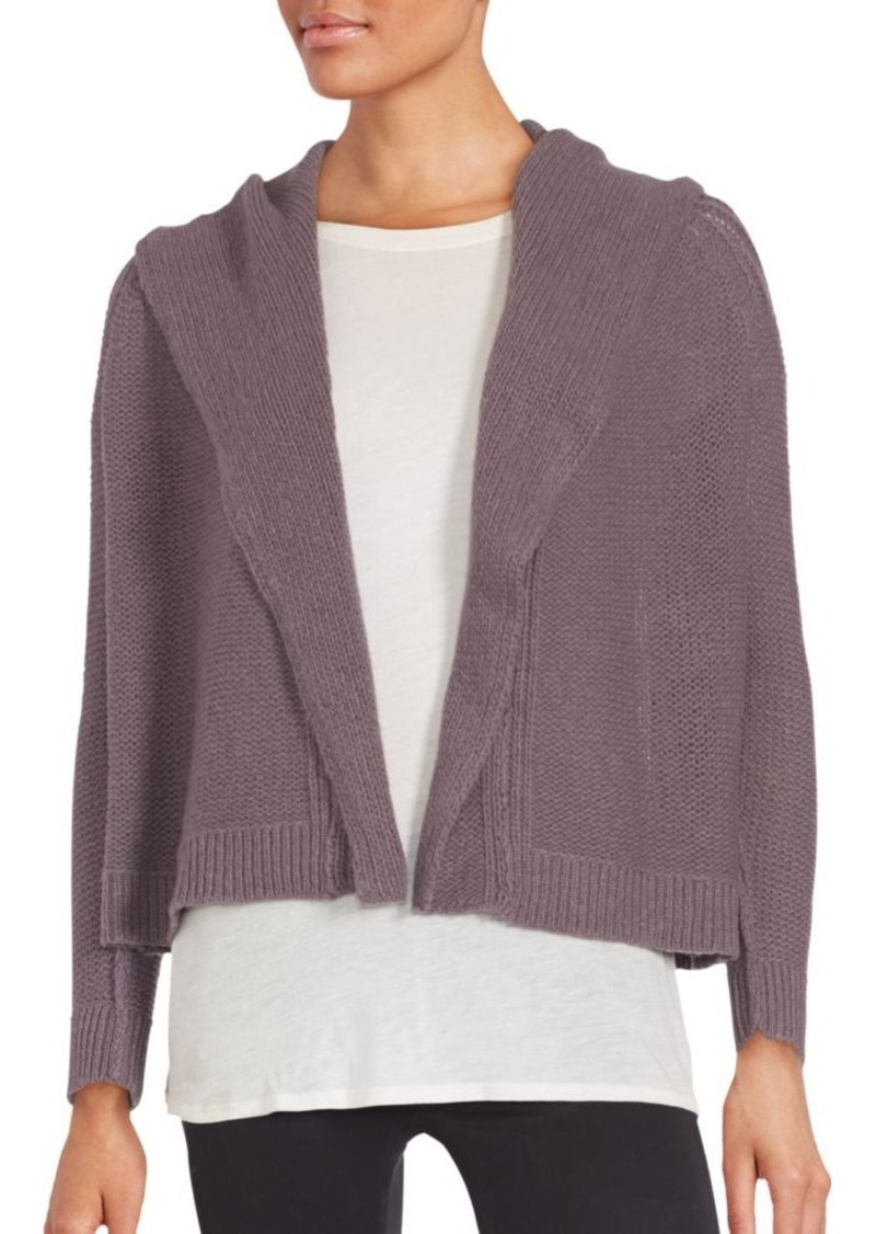 Inhabit INHABIT Cashmere Cropped & Hooded Open Front Cardigan ...