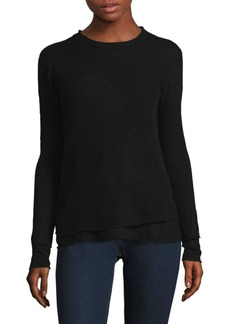 Inhabit Double Layer Tonal Cashmere Sweater