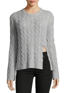 Inhabit Luxe Cable Cashmere Sweater