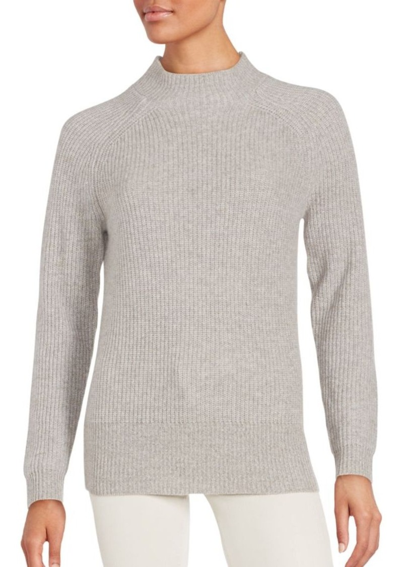 INHABIT Cashmere Ribbed Long Sleeve Pullover