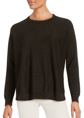 INHABIT Cashmere Ribbed Solid Pullover