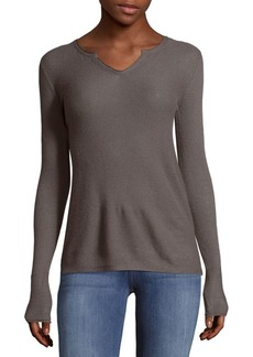 INHABIT Serafino Long Sleeves Cashmere Tee