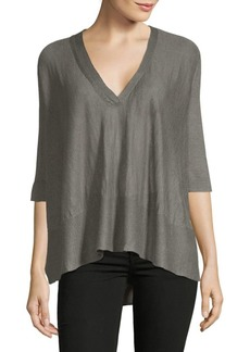 Inhabit Swing V-Neck Linen Blouse