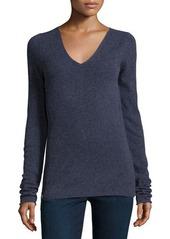 Inhabit V-Neck Long-Sleeve Sweater W/Side-Zip