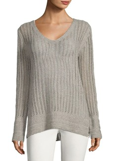 Inhabit V-Neck Pointelle Sweater