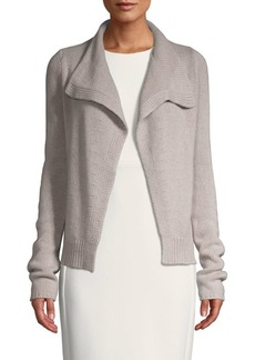 Inhabit Open-Front Cashmere Cardigan
