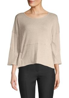 Inhabit Roundneck Three-Quarter Sleeve Sweater