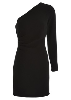 Intermix Catherine One-Shoulder Crepe Dress