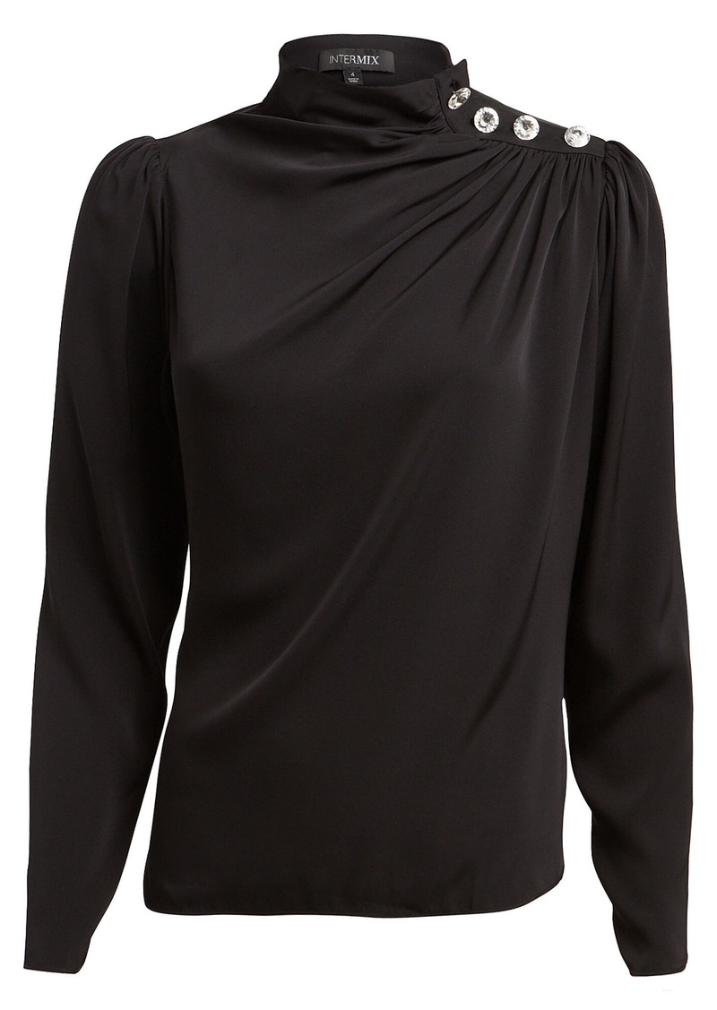 Intermix Charity Embellished Silk Blouse