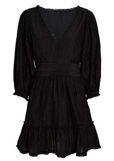 Intermix Darcy Silk-Cotton Mini Dress