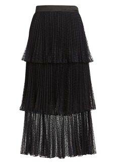 Intermix Edith Ruffled Tulle Midi Skirt