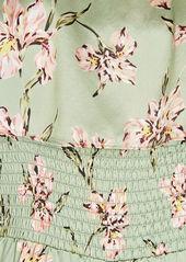 Intermix Eliza Silk Printed Jumpsuit