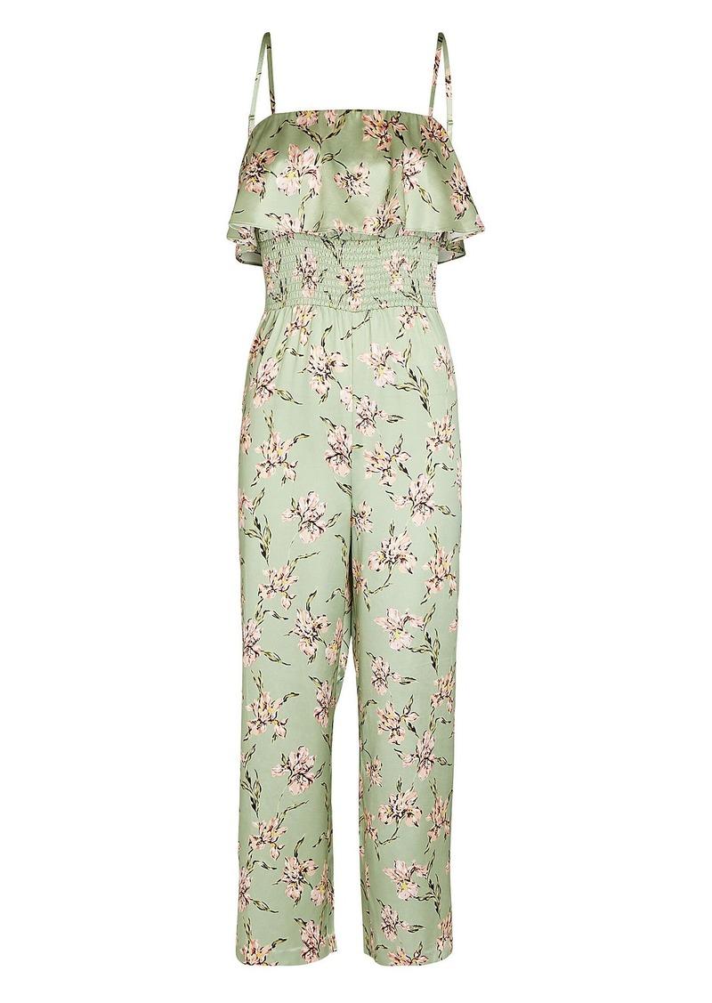 Eliza Silk Printed Jumpsuit