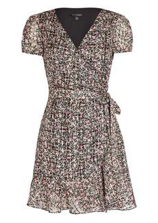 Intermix Elle Floral Silk-Cotton Wrap Dress
