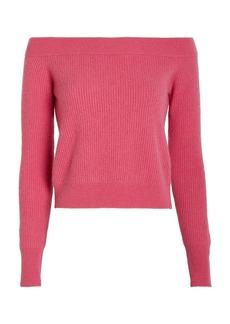 Intermix Emilia Off-The-Shoulder Cashmere Sweater