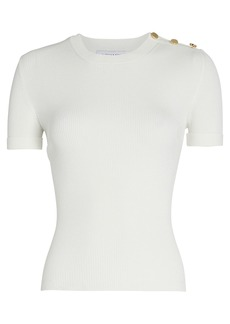Intermix Felicity Button Shoulder Top