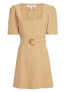 Intermix Florian Belted Mini Dress