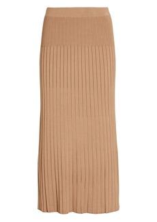 Intermix Georgia Pleated Knit Midi Skirt