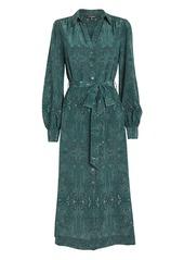 Intermix Juliana Paisley Silk Shirt Dress