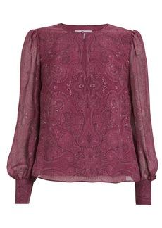 Intermix Kiera Paisley Silk Blouse