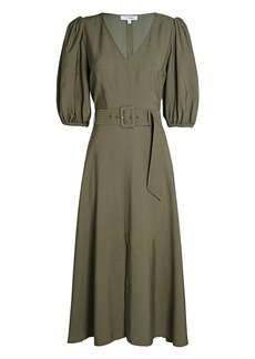 Intermix Laura Puff Sleeve Midi Dress