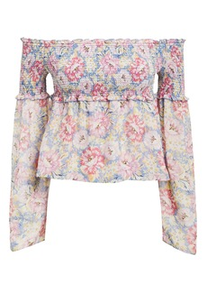 Intermix Lucy Off-the-Shoulder Floral Top