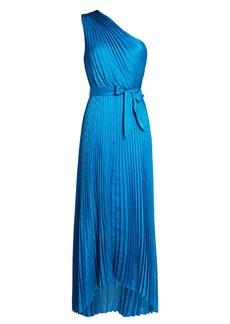 Intermix Luisa Pleated Satin Midi Dress