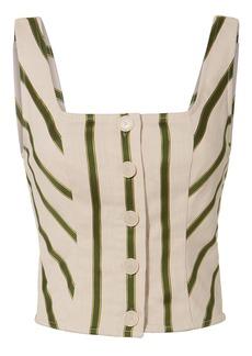 Intermix Mirella Striped Bustier
