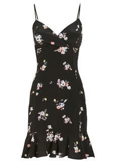 Intermix Monique Silk Printed Mini Dress