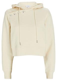 Intermix Myla Button-Embellished Hooded Sweatshirt