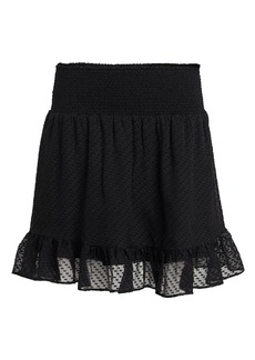 Intermix Rena Swiss Dot Silk Skirt
