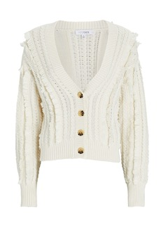 Intermix Rowen Fringed Cotton-Blend Cardigan