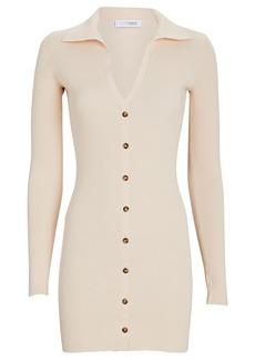 Intermix Samira Rib Knit Polo Mini Dress