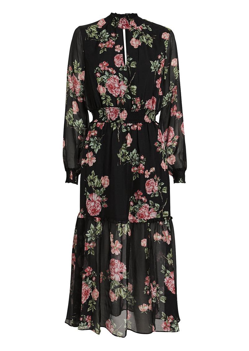 Intermix Suri Silk Floral Maxi Dress