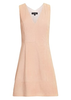 Intermix Sydney Suede Mini Dress